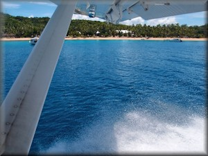 seaplane departure from Paradise Cove